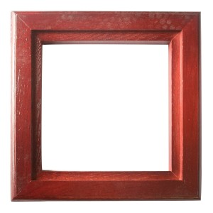 "6"" x 6"" Oak Single Tile Frame with Mahogany Stain"